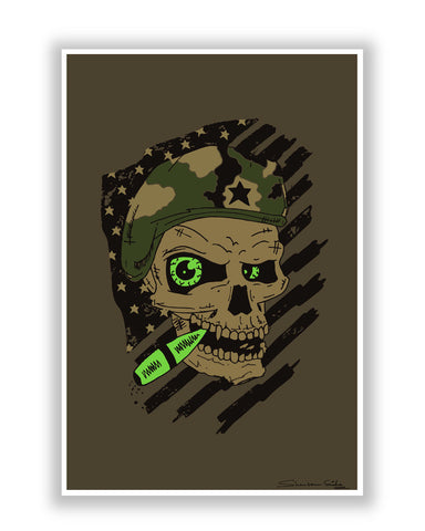 Buy Quirky Posters Online | Militant Skull Poster | PosterGuy.in