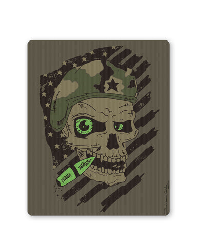 Mouse Pads | Militant Skull Mouse Pad Online India | PosterGuy.in