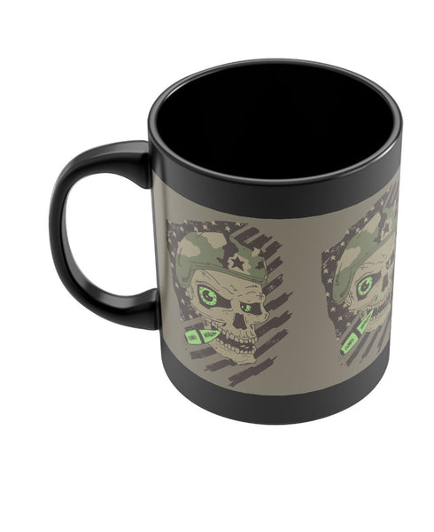 Militant Skull Black Coffee Mug Online India