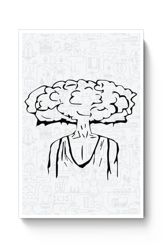 Posters Online | Mind Blown Illustration Poster Online India | Designed by: Pulkit Taneja