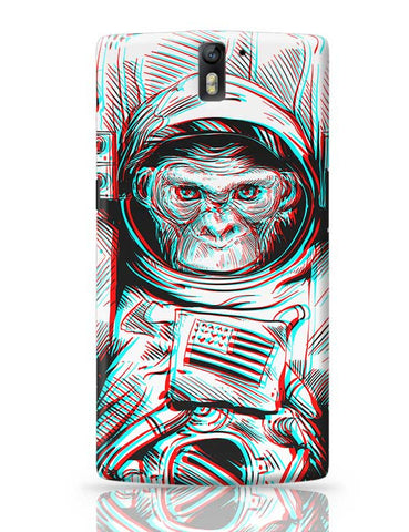 3D Space Monkey OnePlus One Covers Cases Online India