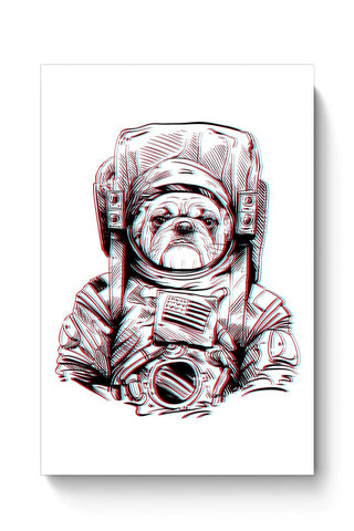 Buy 3D Space Dog Poster