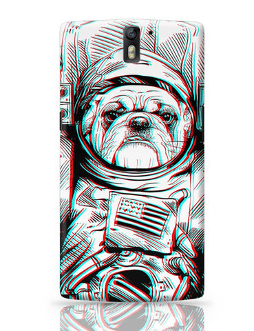 3D Space Dog OnePlus One Covers Cases Online India