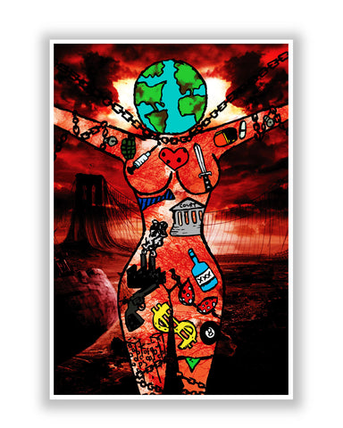 Buy Art Posters Online | Dearth Earth and Woman  Poster | PosterGuy.in