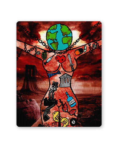 Mouse Pads | Dearth Earth and Woman Mouse Pad Online India | PosterGuy.in