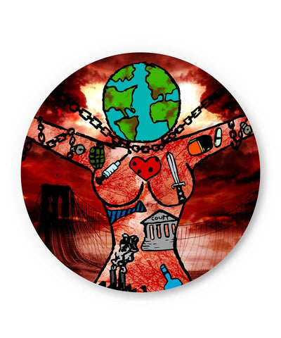 Dearth Earth and Woman  Fridge Magnet Online India