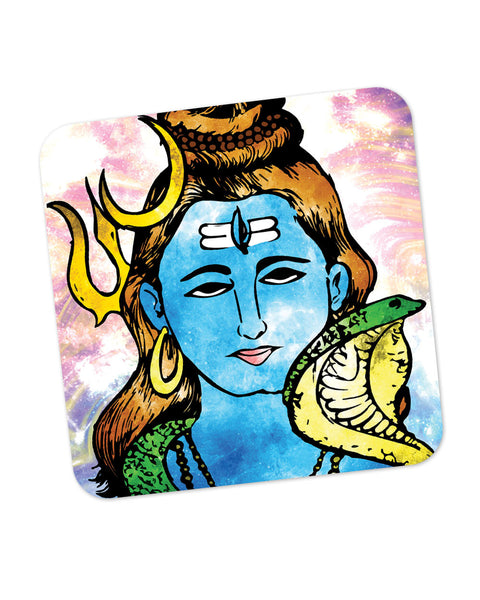 Lord Shiva Graphic Illustration Coaster Online India