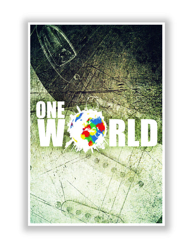 Buy Art Posters Online | One World Graphic Design Poster | PosterGuy.in