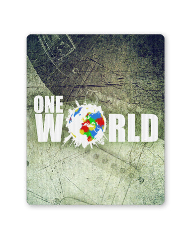 Mouse Pads | One World Graphic Design Mouse Pad Online India | PosterGuy.in