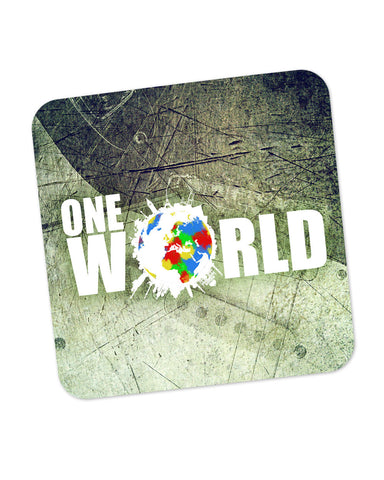 One World Graphic Design Coaster Online India