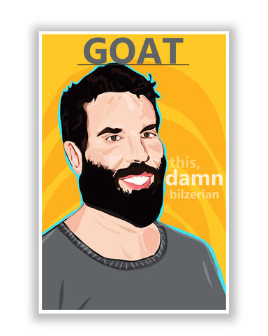 Buy Quirky Posters Online | This Damn Dan Bilzerian Fan Art Poster | PosterGuy.in