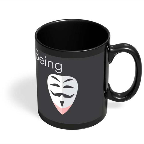 Coffee Mugs Online | Being Anonymous Black Coffee Mug Online India