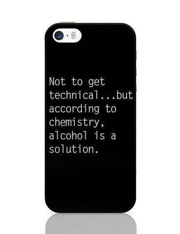 iPhone 5 / 5S Cases & Covers | Alcohol is A Solution | Funny iPhone 5 / 5S Case Cover Online India
