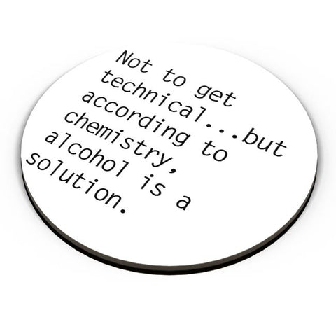PosterGuy | Alcohol is A Solution | Funny Fridge Magnet Online India by Divya Goel