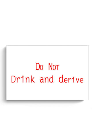 Do Not Drink And Derive Poster Online India