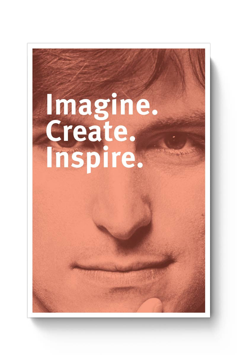 Imagine Create Inspire | Steve Jobs Motivational Poster