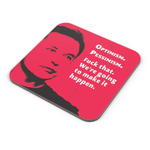 Buy Coasters Online | Elon Musk | We're going to make that Happen Coasters Online India | PosterGuy.in