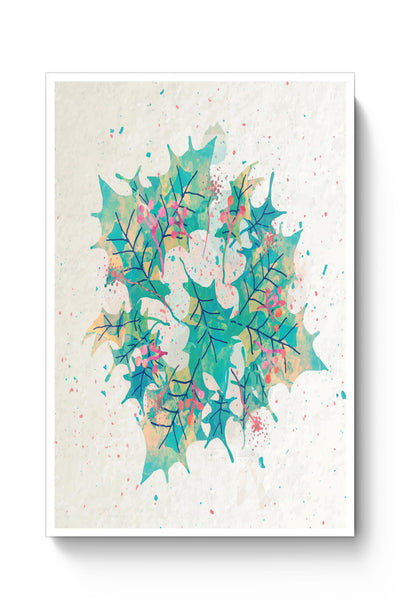 Posters Online | Abstract Holiday Leaves Poster Online India | Designed by: Divya Goel