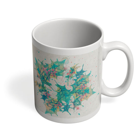 Coffee Mugs Online | Abstract Holiday Leaves Mug Online India