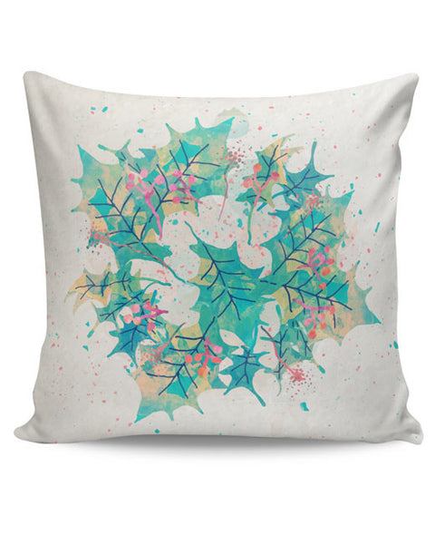 PosterGuy | Abstract Holiday Leaves Cushion Cover Online India