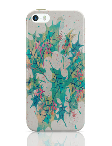 iPhone 5 / 5S Cases & Covers | Abstract Holiday Leaves iPhone 5 / 5S Case Online India