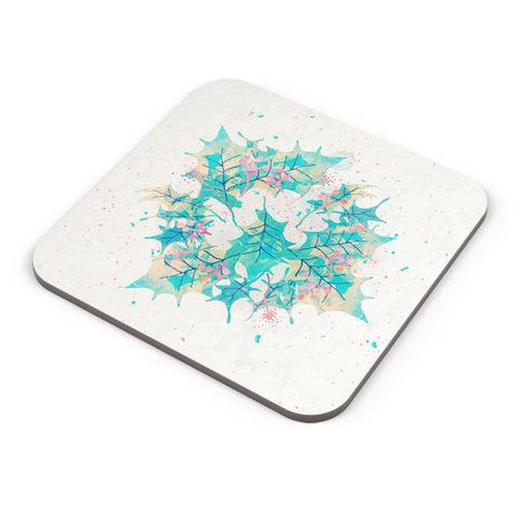 Buy Coasters Online | Abstract Holiday Leaves Coaster Online India | PosterGuy.in