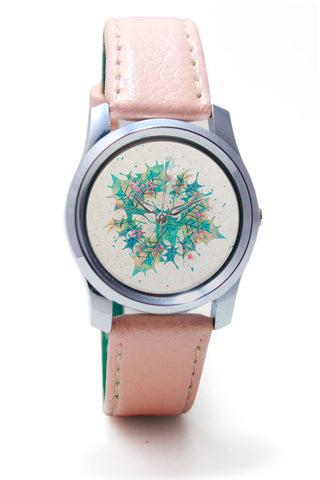 Women Wrist Watch India | Abstract Holiday Leaves Wrist Watch Online India