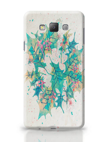 Samsung Galaxy A7 Covers | Abstract Holiday Leaves Samsung Galaxy A7 Covers Online India