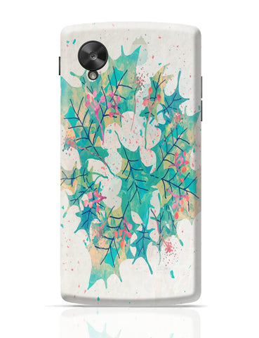 Google Nexus 5 Covers | Abstract Holiday Leaves Google Nexus 5 Cover Online India