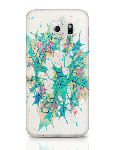 Samsung Galaxy S6 Covers | Abstract Holiday Leaves Samsung Galaxy S6 Covers Online India