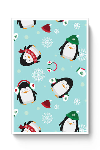 Posters Online | Happy penguins Pattern Poster Online India | Designed by: Divya Goel