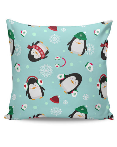 PosterGuy | Happy penguins Pattern Cushion Cover Online India