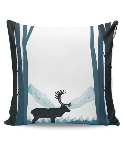 PosterGuy | Reindeer In Snow Illustration Cushion Cover Online India