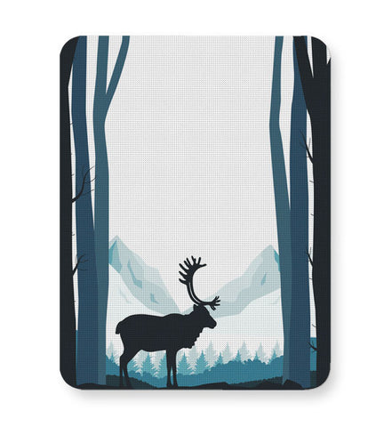 Buy Mousepads Online India | Reindeer In Snow Illustration Mouse Pad Online India