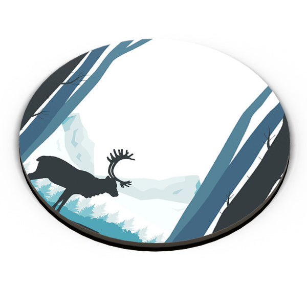 PosterGuy | Reindeer In Snow Illustration Fridge Magnet Online India by Divya Goel