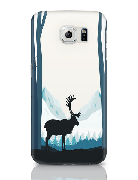 Samsung Galaxy S6 Covers | Reindeer In Snow Illustration Samsung Galaxy S6 Covers Online India