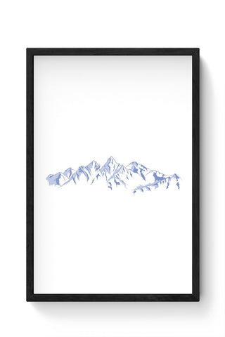 Framed Posters Online India | The Dream Mountains Minimalist Laminated Framed Poster Online India