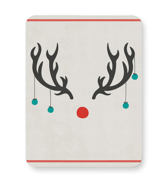 Buy Mousepads Online India | Minimalist Reindeer Christmas Mouse Pad Online India