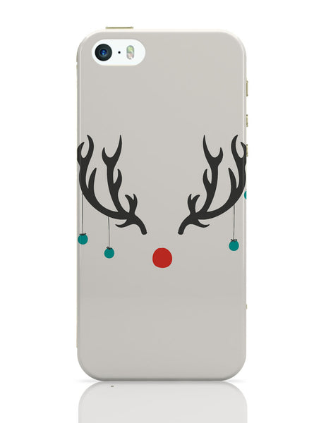 iPhone 5 / 5S Cases & Covers | Minimalist Reindeer Christmas iPhone 5 / 5S Case Online India