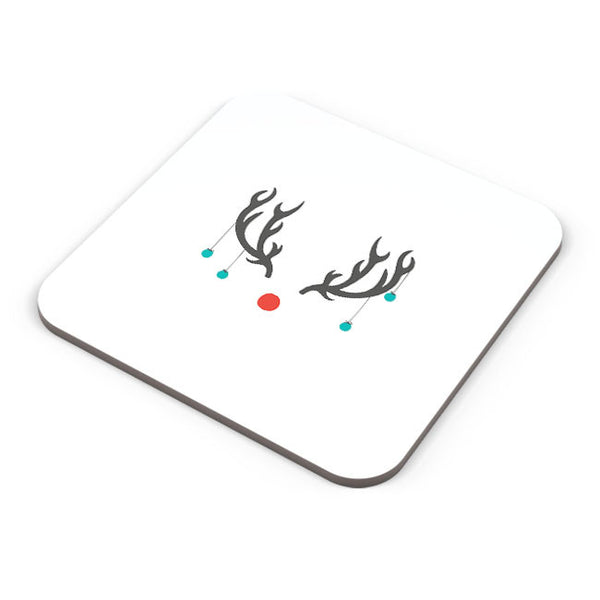 Buy Coasters Online | Minimalist Reindeer Christmas Coaster Online India | PosterGuy.in