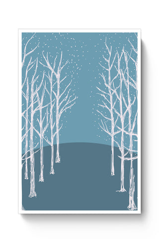 Posters Online | Winter Trees Illustration Poster Online India | Designed by: Divya Goel