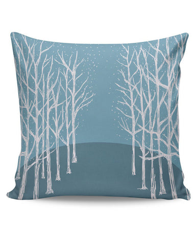 PosterGuy | Winter Trees Illustration Cushion Cover Online India