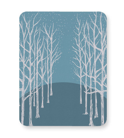 Buy Mousepads Online India | Winter Trees Illustration Mouse Pad Online India