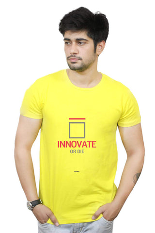 Buy Funny T-Shirts Online India | Innovate Or Die Motivational T-Shirt Funky, Cool, T-Shirts | PosterGuy.in