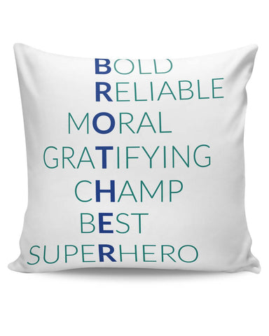PosterGuy | BROTHER Abbreviation Typography Cushion Cover Online India