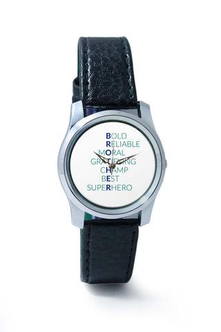 Women Wrist Watch India | BROTHER Abbreviation Typography Wrist Watch Online India