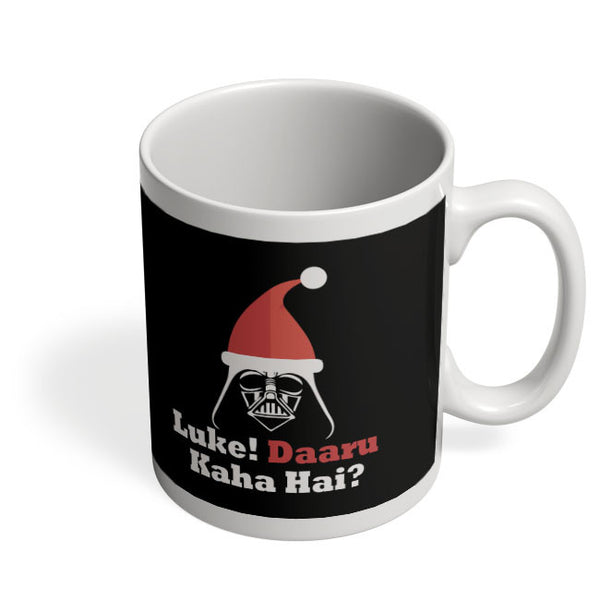 Coffee Mugs Online | Luke ! Daru Kaha Hai | Dark Darth Santa Mug Online India