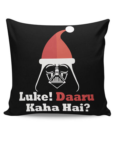 PosterGuy | Luke ! Daru Kaha Hai | Dark Darth Santa Cushion Cover Online India