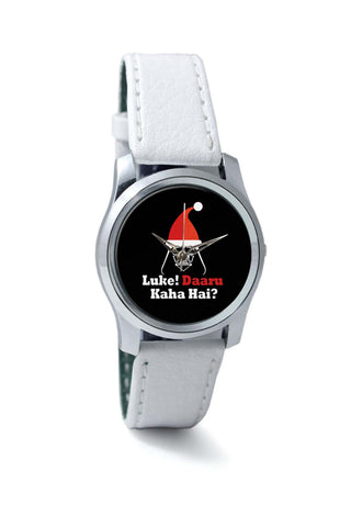 Women Wrist Watch India | Luke ! Daru Kaha Hai | Dark Darth Santa Wrist Watch Online India