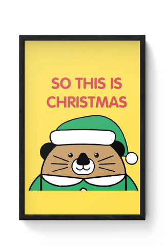 Framed Posters Online India | So This Is Christmas Laminated Framed Poster Online India